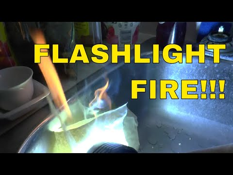 BURN PAPER WITH FLASHLIGHT - IMALENT DX80 - 32000 LUMENS!