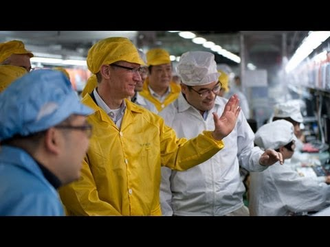 Apple CEO Tim Cook Visits China Foxconn Manufacturing Plant