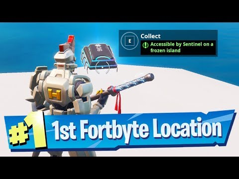 Fortnite Fortbyte #36 Location - Accessible by Sentinel on a Frozen Island