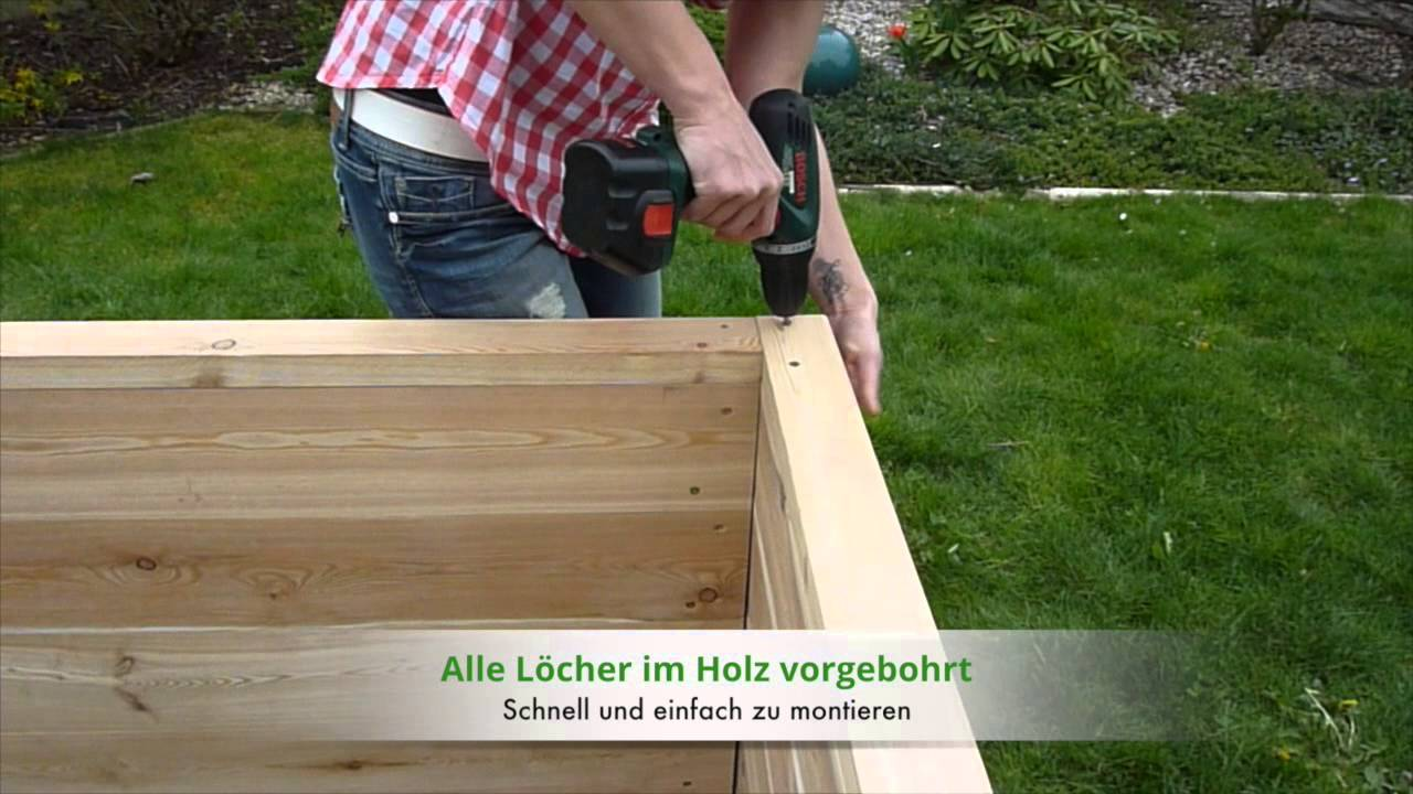 hochbeet bauen mit unserem hochbeet bausatz youtube. Black Bedroom Furniture Sets. Home Design Ideas