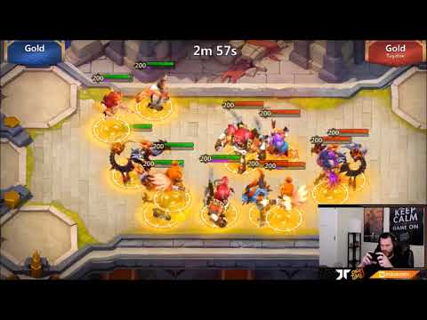 JT's F2P Squad Showdown Going For Platinum 6 Hero Mode Castle Clash