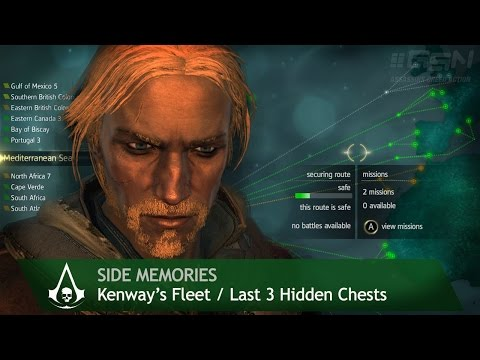 Assassin's Creed 4: Black Flag - Side Memories - Kenway's Fleet & Last 3 Hidden chests