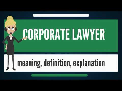 What is CORPORATE LAWYER? What does CORPORATE LAWYER mean? CORPORATE LAWYER meaning