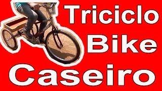 Triciclo Bike caseiro, tricycle, bicicleta triciclo caseiro, DIY tricycle, homemade tricycle bike,