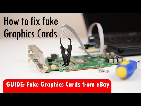Fix Fake Graphics Cards from China eBay Scammers with Hardware BIOS flashing