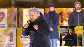Beppe Grillo  - Piazza del Popolo (INTEGRALE) 2/3/2018
