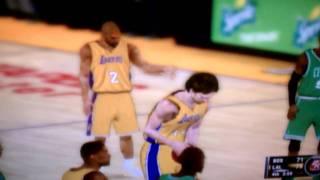 NBA 2K11 Wii gameplay (LA vs. Boston)