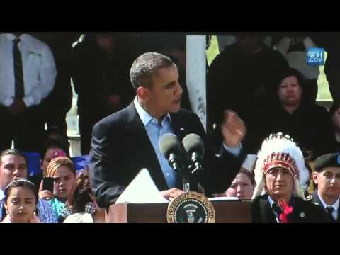 President Obama speaks to Standing Rock Sioux Tribe