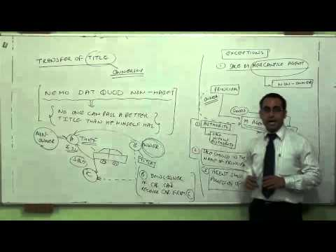 Introduction to Transfer of title and exceptions Video (Part