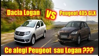 Ce ai alege intre un Logan si un Peugeot ?