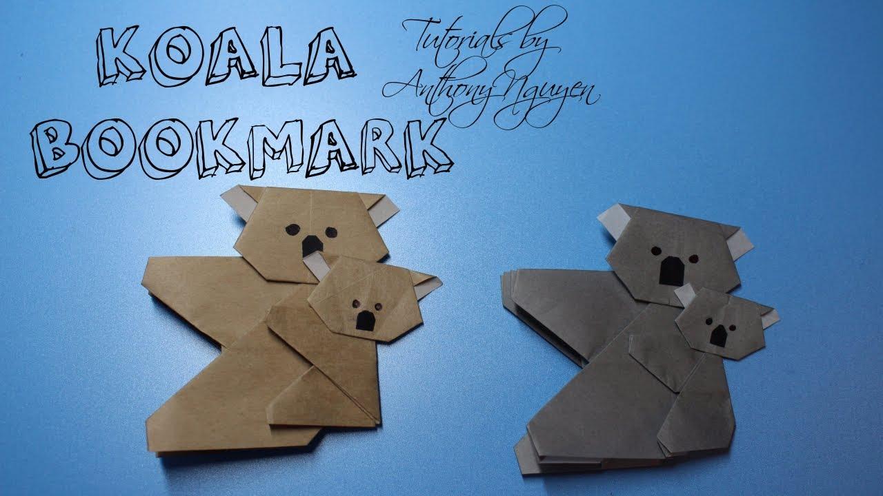 Origami DIY Koala Bookmark Tutorial By OrigamiPapercraft