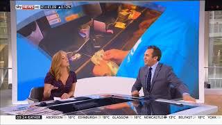 News Presenter Sarah Jane Mee Showing Cleavage   20170824