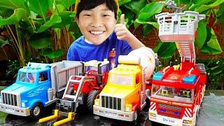 플레이 모빌 조립놀이 예준이의 중장비 자동차 장난감 소방차 트랙터 덤프트럭 Car Toy for Kids Assembly PLAYMOBIL
