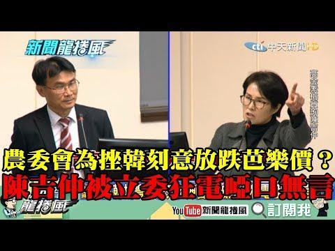 【精彩】農委會為挫韓刻意放跌芭樂價? 陳吉仲被立委狂電啞口無言!