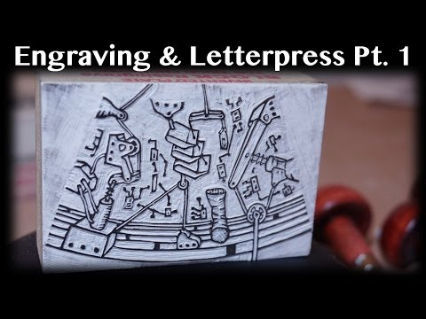Printmaking Demo: Engraving on a Letterpress Pt 1