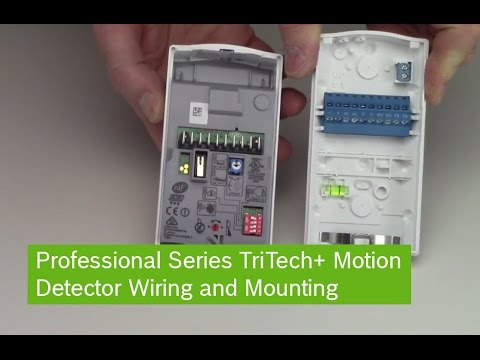 Bosch Professional Series TriTech Motion Detector Wiring and Mounting  YouTube
