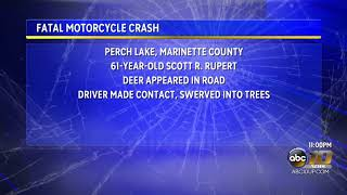 Motorcycle crash in Marinette County leaves one dead