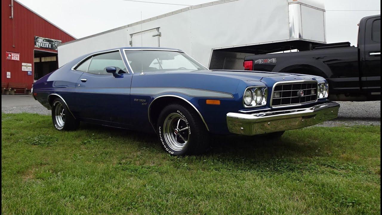 1973 Ford Torino Sport In Blue Glow Metallic  U0026 351 Engine