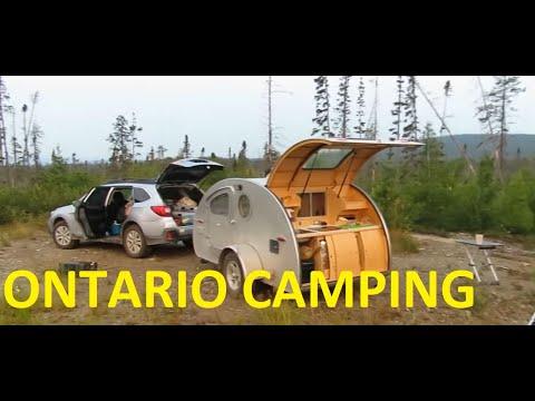 Boondocking Ontario Canada In A Vistabule Teardrop Trailer Overlanding