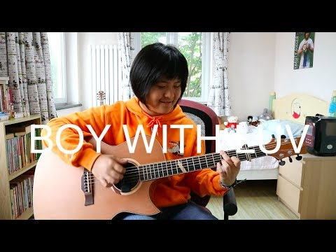 Boy With Luv - BTS Ft. Halsey (fingerstyle Guitar Cover) (free Tabs)