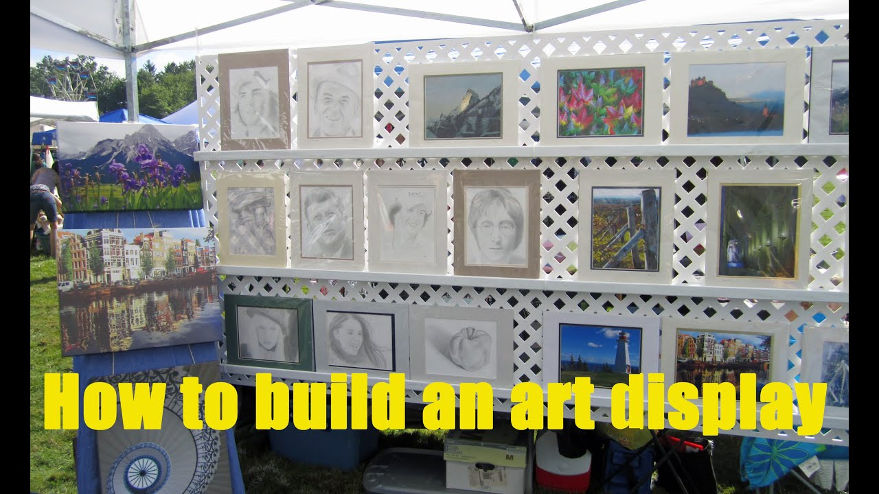 How to build a display for art and craft shows youtube for Best way to sell art prints