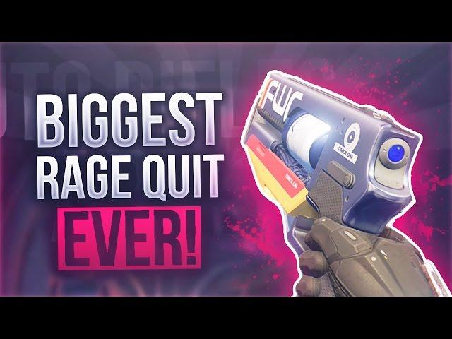 Destiny MY BIGGEST RAGE QUIT EVER! - Destiny My Worst Rage Ever