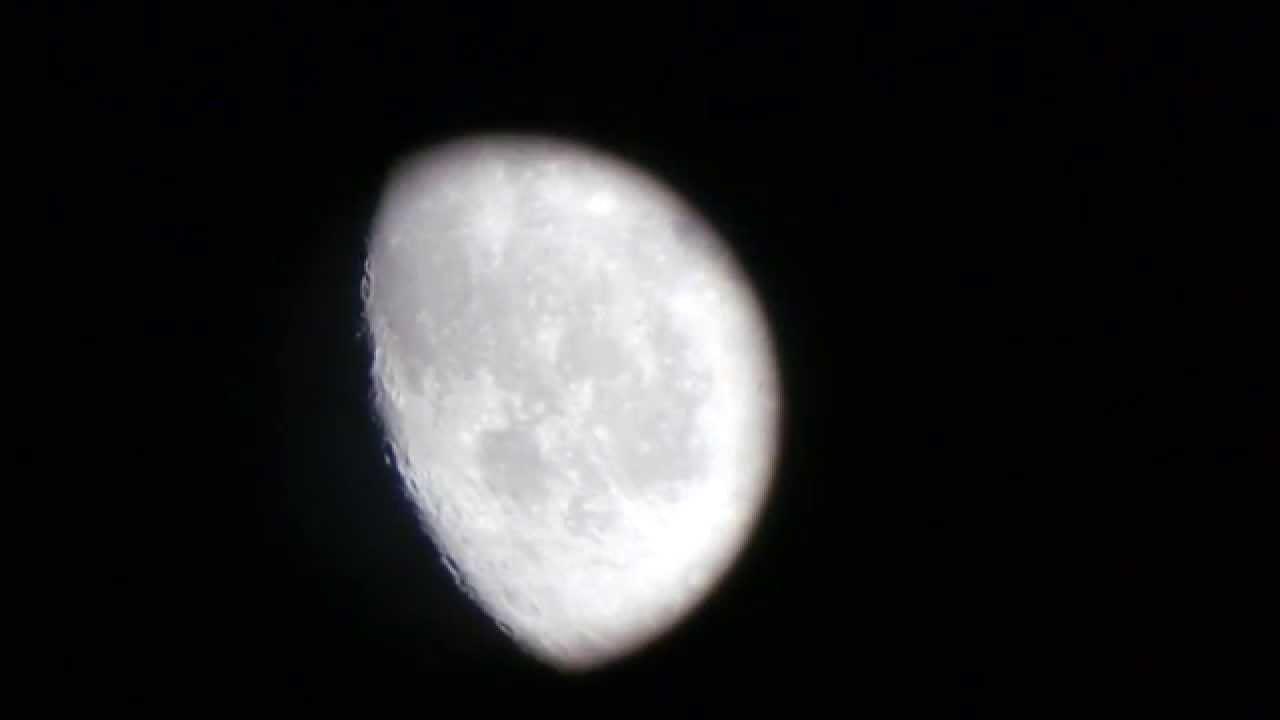 The moon 2 celestron powerseeker 60az telescope! youtube