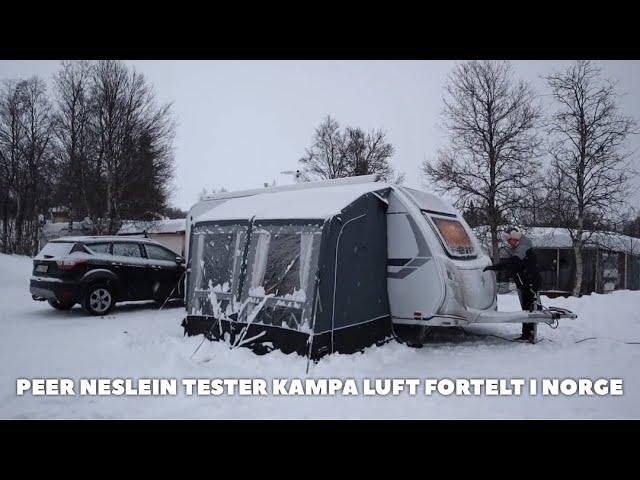 Kampa Winter luft fortelt testes i Norge