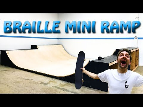 THE NEW BRAILLE MINI RAMP! FINALLY!