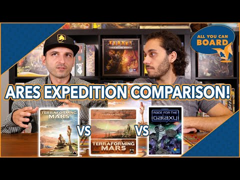 Ares Expedition vs Terraforming Mars vs Race for the Galaxy   Comparison Review