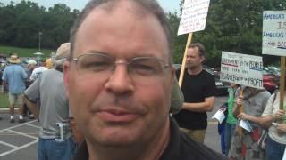 Sen. Ben Cardin Townhall Protest in Hagerstown, MD