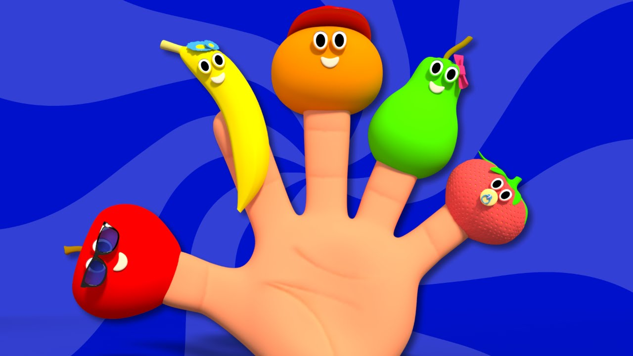 Fruits Finger Family L 3d Nursery Rhymes Learn Fruits Fruits