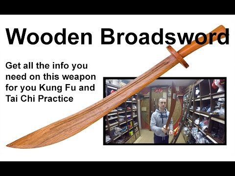 Chinese Red Oak Wooden Broadsword for Kung Fu and Tai Chi