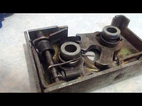 Разборка сборка ревизия доработка замка двери Пассат Б3 Passat B3 Door Lock Disassembly Revision