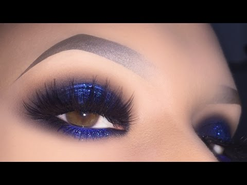 Sexy Blue Smokey Eye Makeup Tutorial