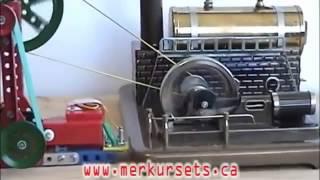 Работающая модель парового двигателя   видео инструкция(Реальная работающая модель парового двигателя от чешской фирмы Меркур (Merkur). Можно купить в нашем интернет-..., 2015-03-17T11:03:35.000Z)