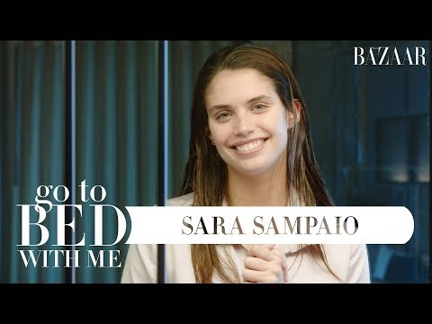 Sara Sampaio's Nighttime Skincare Routine | Go To Bed With Me | Harper's BAZAAR