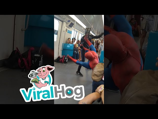 Spiderman on the Subway || ViralHog