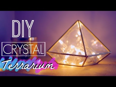 DIY Easy Crystal Terrarium | Room Decor: Tumblr and Urban Outfitters Inspired