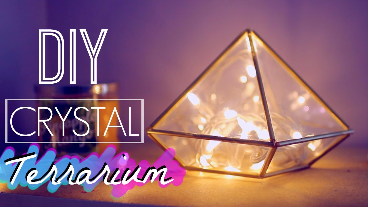 Diy Easy Crystal Terrarium Room Decor Tumblr And Urban Outfitters