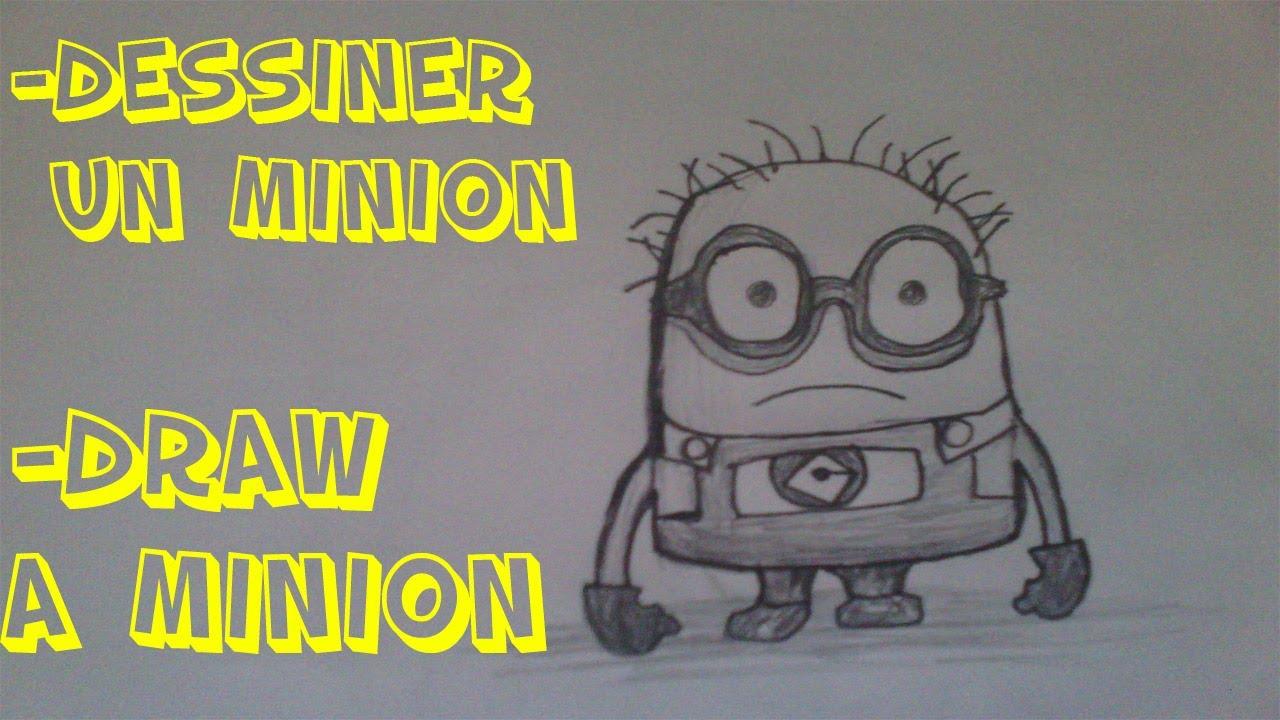 Comment dessiner un minion how to draw a minion youtube - Minion a dessiner ...