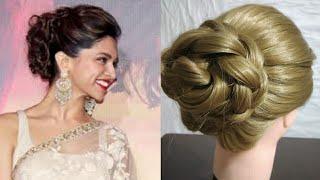 Deepika Padukone inspired Bun | Heatless Hairstyle | Party bun
