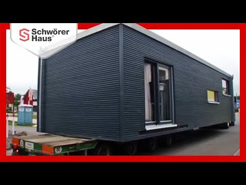 Schw rerhaus flyingspace montage fertighaus youtube for Mobiles haus