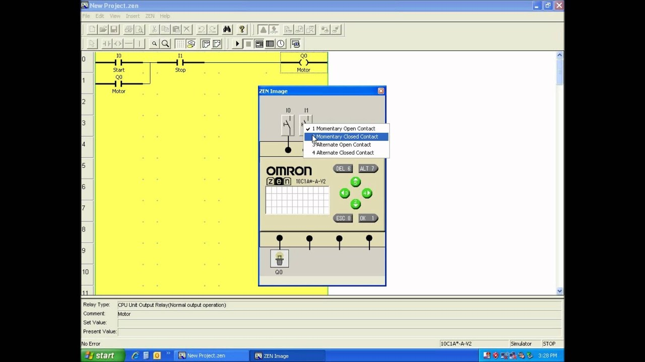 Omron Zen Software Simulation Youtube