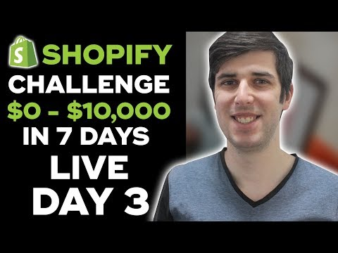 (Day 3) SHOPIFY CHALLENGE: NEW STORE FROM $0 TO $10,000 IN 7 DAYS STEP-BY-STEP | SHOPIFY CASE STUDY