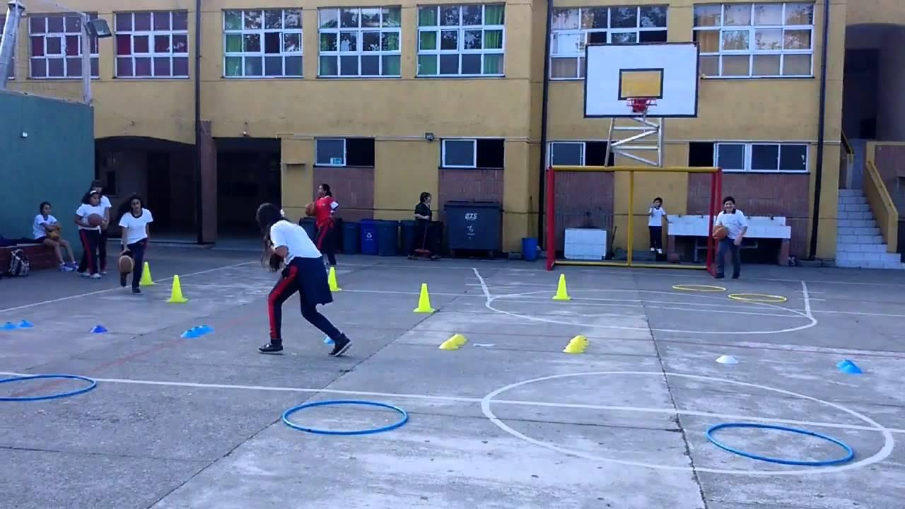 Educacion Fisica Circuito Basquetbol 01 Youtube
