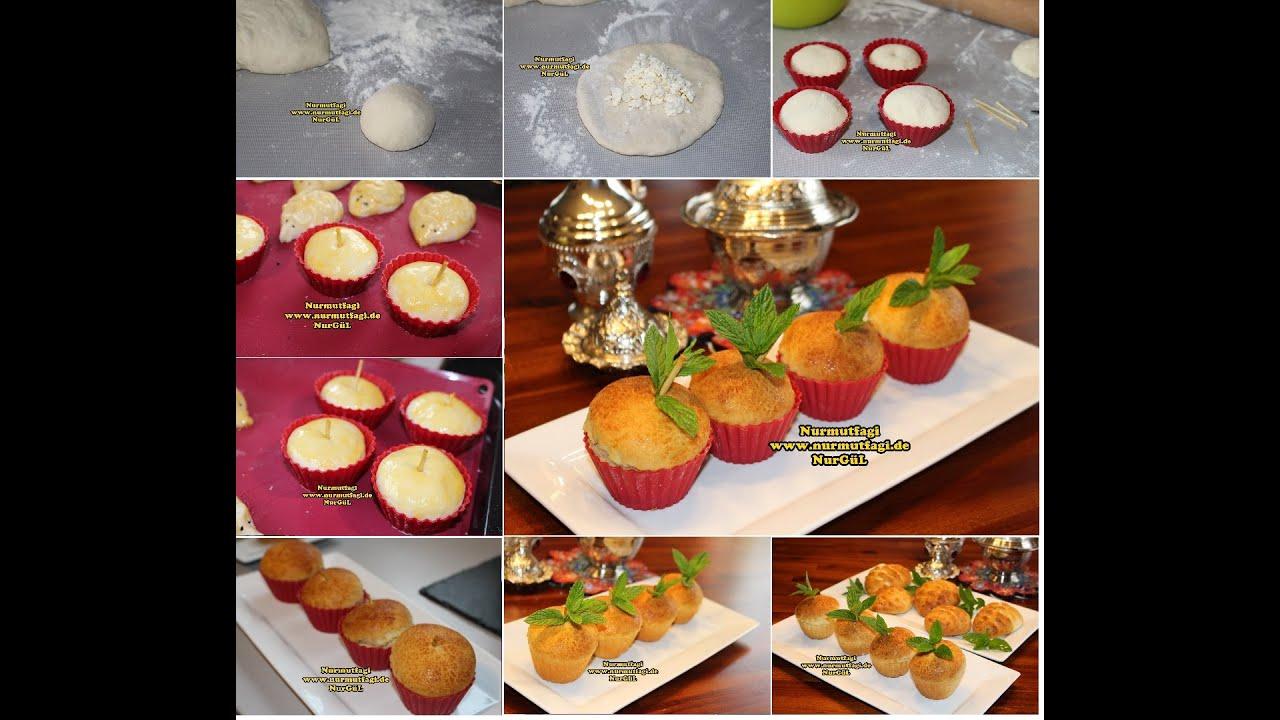 Muffin kalıbında Elma Poğaça nasıl yapılır tarifi - YouTube