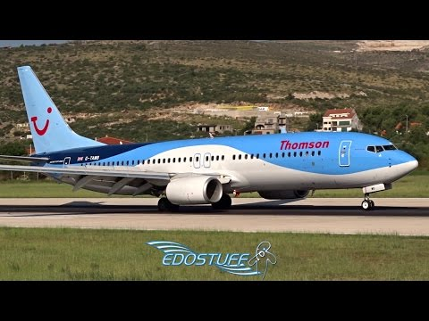 Thomson - Boeing 737-8K5 G-TAWB - Landing at Split Airport LDSP/SPU