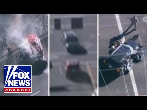 High-speed police pursuit ends in violent head-on collision