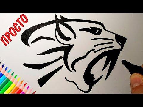Как нарисовать ТАТУ ТИГРА, Просто рисуем